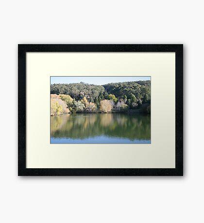Reflections at Mt. Lofty Botanical Gardens. Framed Print