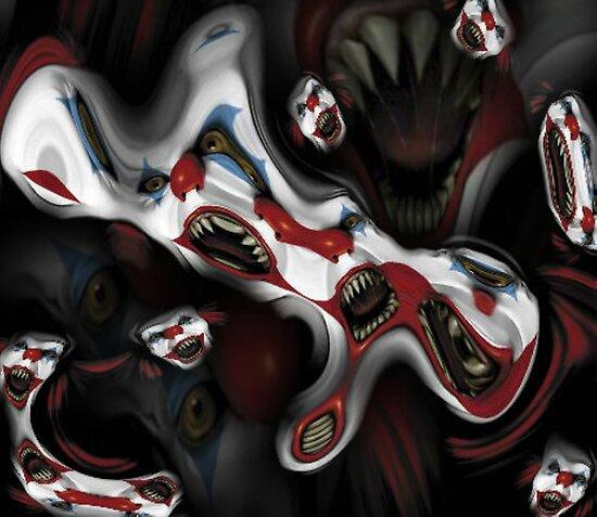 evil clown by ALIANATOR