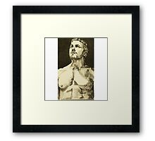 Stephen Amell, the green Arrow Framed Print