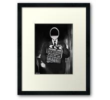 Corky the Film Director Framed Print