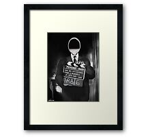 Corky the Film Director Framed Print