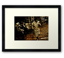 3 Men and a Women Framed Print