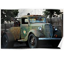 Last Chance Garage - Vintage Tow Truck Poster