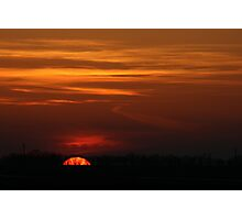 When the Sun Goes Down over the Mid-West Photographic Print