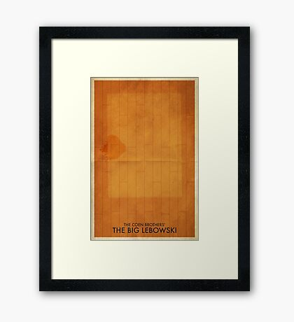 The Big Lebowski Minimal Poster Framed Print