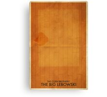 The Big Lebowski Minimal Poster Canvas Print