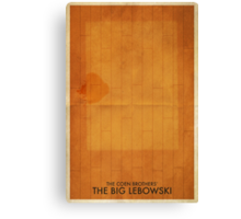 The Big Lebowski Minimal Poster Canvas Print