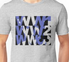 TB-L (www has lots of pointy triangles in it) Unisex T-Shirt