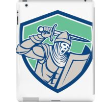Crusader Knight With Sword and Shield Retro iPad Case/Skin
