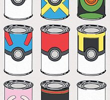 Pokeball Soup Cans by Missy Pena