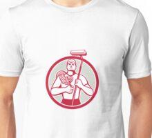High Rise Window Cleaner Circle Retro Unisex T-Shirt