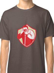 Photographer Shooting Camera Shield Retro Classic T-Shirt