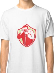 Photographer Shooting Camera Shield Retro Classic T-Shirt