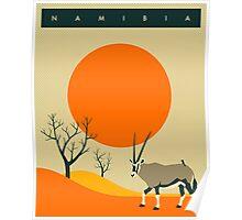 Namibia Travel Poster Poster