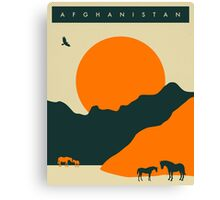 Afghanistan Travel Poster Canvas Print