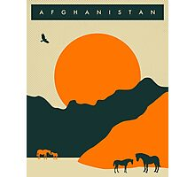 Afghanistan Travel Poster Photographic Print