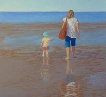 """""""My Girls Summer 2011"""" Pastel Painting by Alison Murphy"""