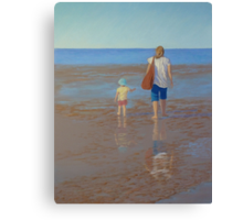 """My Girls Summer 2011"" Pastel Painting Canvas Print"