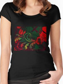 grunge tulip Women's Fitted Scoop T-Shirt