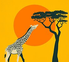 TANZANIA Travel Poster by JazzberryBlue