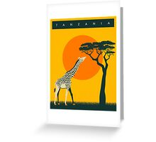TANZANIA Travel Poster Greeting Card