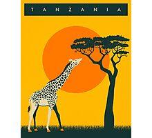 TANZANIA Travel Poster Photographic Print