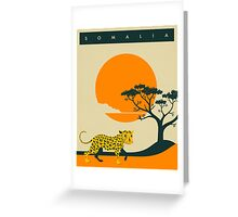 Somalia Travel Poster Greeting Card