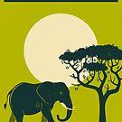 Kenya Travel Poster by JazzberryBlue