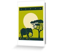 Kenya Travel Poster Greeting Card