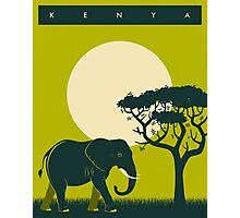 Kenya Travel Poster Photographic Print