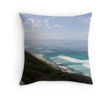 Sand Patch in the morning mist Throw Pillow