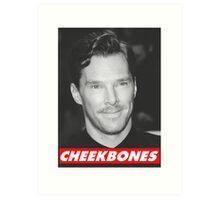 Benedict Cumberbatch Cheekbones Art Print