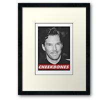 Benedict Cumberbatch Cheekbones Framed Print