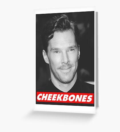Benedict Cumberbatch Cheekbones Greeting Card