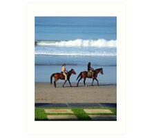 Bali Beach Scene Art Print