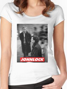Johnlock Women's Fitted Scoop T-Shirt