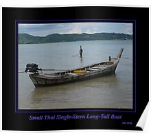 Small Thai Single-Stern Longtail Boat Poster