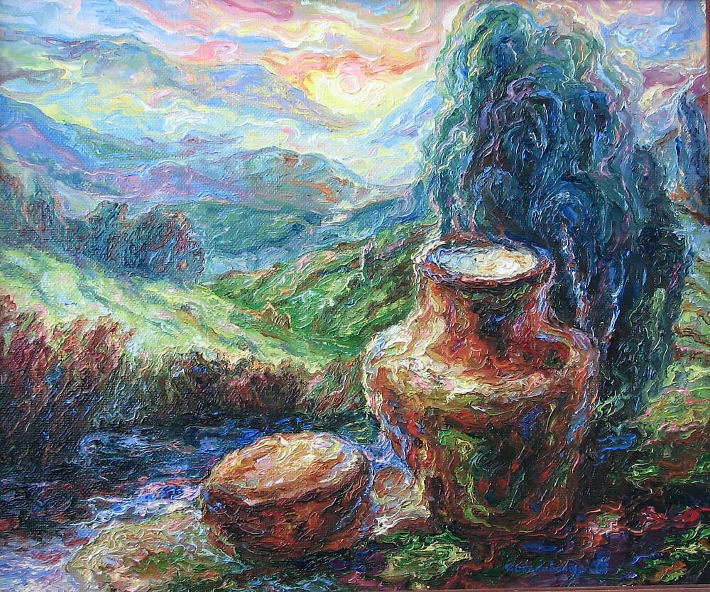 Jug with milk by Sokolovskaya