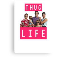 Thug life - full house Canvas Print