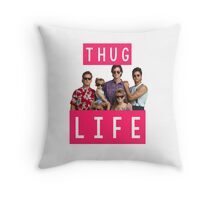 Thug life - full house Throw Pillow