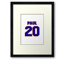 National baseball player Paul Casanova jersey 20 Framed Print