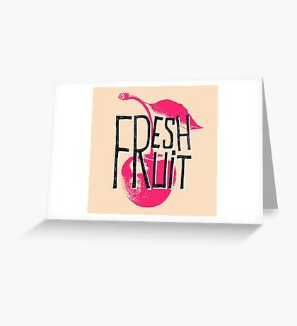 Cherry fresh fruit illustration Greeting Card