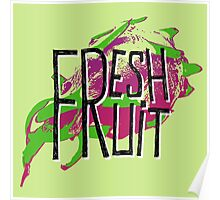 Pitaja fresh fruit illustration Poster