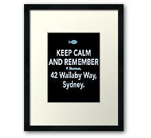 42 Wallaby Way, Sydney Framed Print