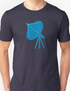 Satellite communication dish in blue T-Shirt