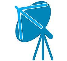 Satellite communication dish in blue Photographic Print