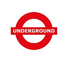 Underground sign Photographic Print