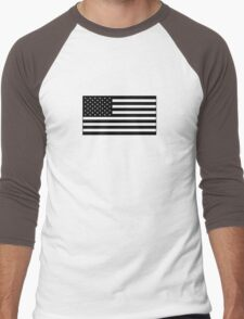 American Flag - Olive Men's Baseball ¾ T-Shirt