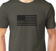American Flag - Olive Unisex T-Shirt