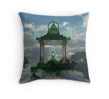 Emerald Throne Throw Pillow